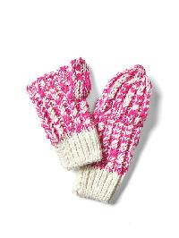 Gap Convertible Marled Mittens - Standout pink