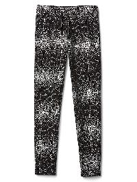 Gap Printed Coziest Leggings - True black