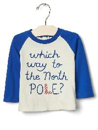 Gap Organic North Pole Baseball Tee - Ivory frost