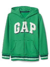 Gap Shadow Logo Fleece Zip Hoodie - Parrot green