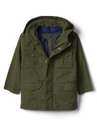 Gap 3 In 1 Utility Jacket - Army jacket green
