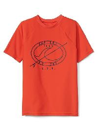 Gap Surf Graphic Short Sleeve Rashguard - Orange pop