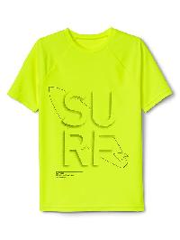 Gap Surf Graphic Short Sleeve Rashguard - Safety yellow