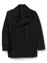 Gap Wool Blend Peacoat - True black