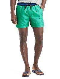 "Gap Varsity Print Swim Trunks (5.5"") - Green dot"