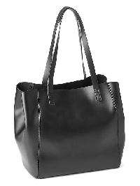 Gap Faux Leather Medium Tote - Black