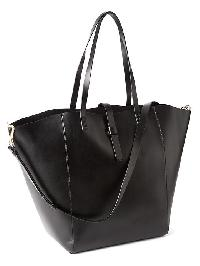 Gap Faux Leather Large Satchel - Black