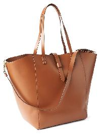 Gap Faux Leather Large Satchel - Camel