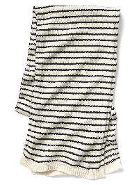 Gap Soft Skinny Scarf - White stripe