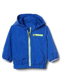 Gap Removable Hood Windbreaker - Blue allure