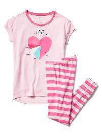 Gap Love Graphic Pj Set - Pink