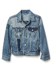Gap Patchwork Denim Jacket - Indigo patchwork