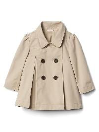 Gap Pleated Trench Coat - Sand khaki