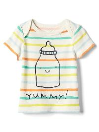 Gap Organic Bottle And Stripe Tee - Multi stripe
