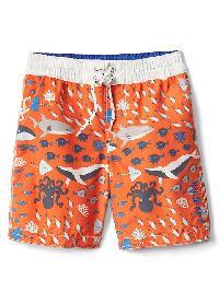 Gap Sea Life Swim Trunks - Tangy orange