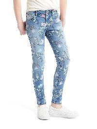 Gap 1969 Butterfly High Stretch Super Skinny Jeans - Denim