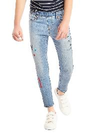 Gap 1969 Doodle Embroidery High Stretch Skimmer Jeggings - Medium wash