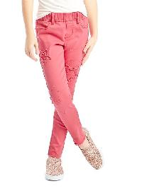 Gap 1969 Star Patch High Stretch Skimmer Jeggings - Coral