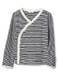 Gap Organic Stripe Kimono Top - Blue uniform