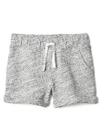Gap Rolled Terry Shorts - Black space dye