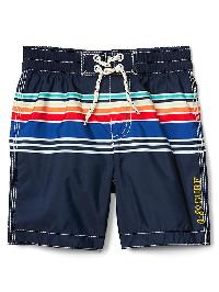 Gap Surf Stripe Swim Shorts - Elysian blue