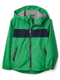 Gap Jersey Lined Stripe Windbuster - Parrot green