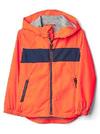 Gap Jersey Lined Stripe Windbuster - Orange buoy