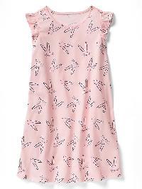 Gap Print Flutter Nightgown - Pink