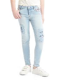 Gap Embroidered High Stretch Super Skinny Jeans - Light denim