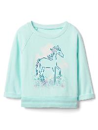Gap Graphic Crew Sweatshirt - Ballerina blue