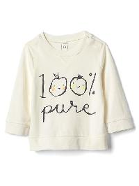 Gap Organic Pure Crew Tee - Ivory frost