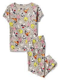 Gapkids &#124 Looney Tunes Capri Pj Set - Heather gray