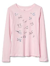 Gap Embellished Graphic Long Sleeve Tee - Light peony