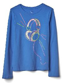 Gap Embellished Graphic Long Sleeve Tee - Belle blue