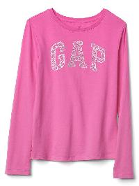 Gap Embellished Graphic Long Sleeve Tee - Phoebe pink