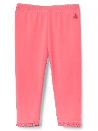 Gap Lace Trim Leggings - Sassy pink