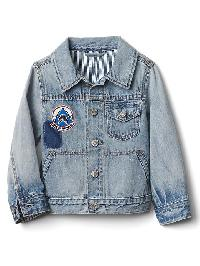 Gap Shark Patch Denim Jacket - Light wash