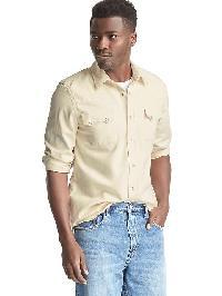 Gap The Archive Re Issue Heritage Denim Western Shirt - Ecru