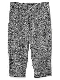 Gap Brushed Jersey Crop Pants - Black heather