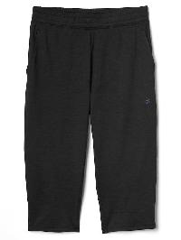 Gap Brushed Jersey Crop Pants - True black