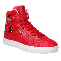 Stylish Tie Up and Metal Design Casual Shoes For Men - RED