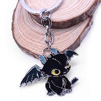 Key Chain Hanging Pendant Dragon Shape Keyring Movie Product for Bag Decoration - BLACK