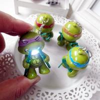 5.7cm 1PC LED Lighting Sound Turtle Key Chain Kid Toy Gift Bag Desktop Decoration - COLORMIX
