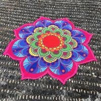 Lotus Flower Beach Throw - TUTTI FRUTTI