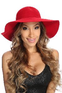 Red Knotted Side Tie Floppy Hat