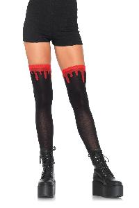 Black Red Dripping Blood Knee High Socks