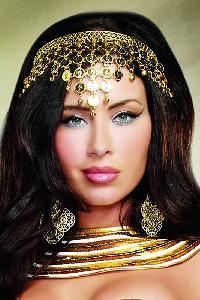 Shimmering Gold Coin Crown Costume Accessories