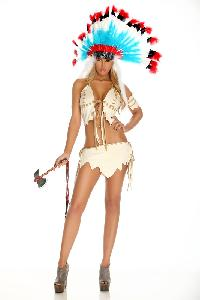Cream Tribal Tease Sexy Costume