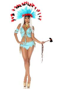 Baby Blue Tomahawk Hottie Costume