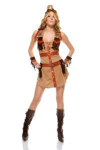 Beige Sexy Wrangler Costume